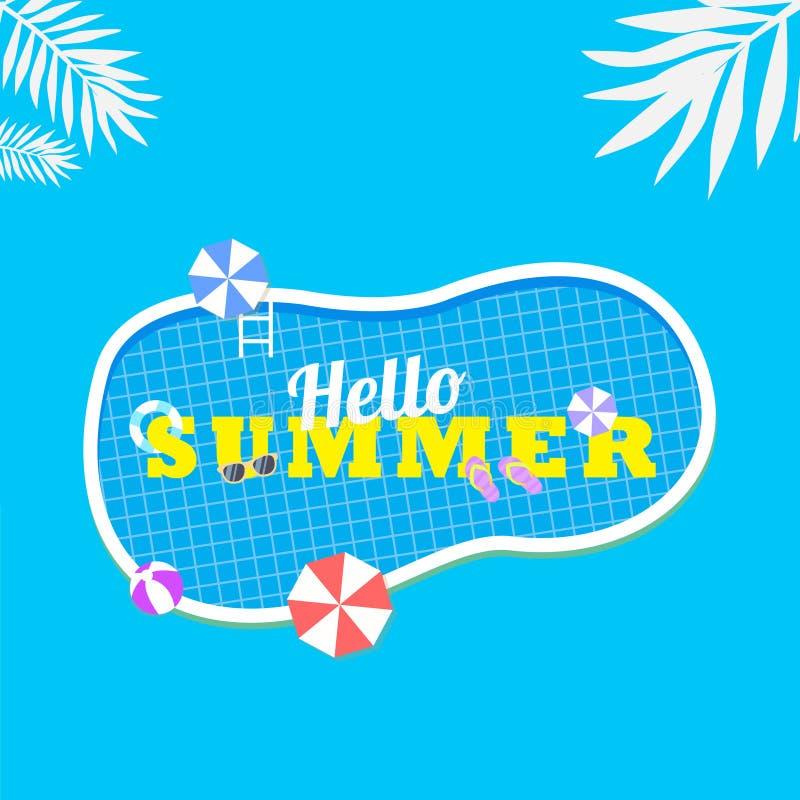Ciao fondo di estate buon per la promozione royalty illustrazione gratis