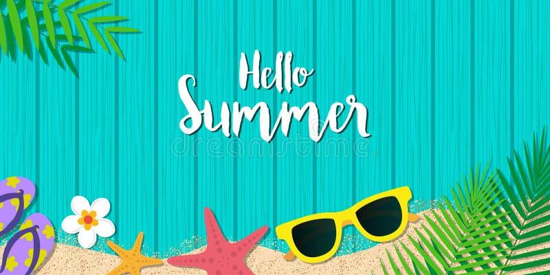 Ciao fondo di vacanza estiva Vacanza di stagione, fine settimana Vecto royalty illustrazione gratis