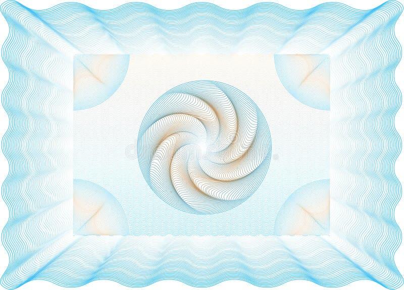 Ciao ha dettagliato il certificato in bianco della rabescatura illustrazione vettoriale