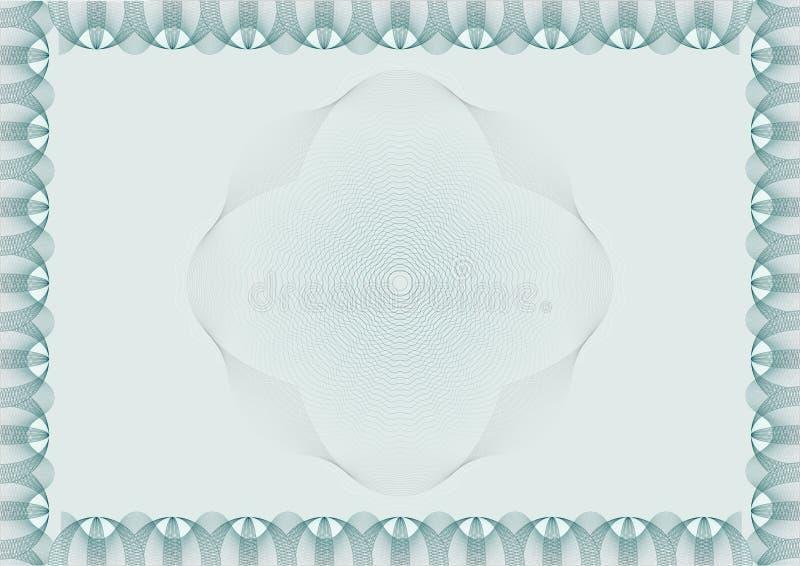 Ciao ha dettagliato il certificato in bianco della rabescatura illustrazione di stock