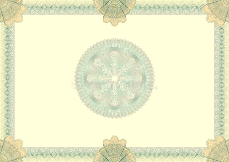 Ciao ha dettagliato il certificato in bianco della rabescatura royalty illustrazione gratis