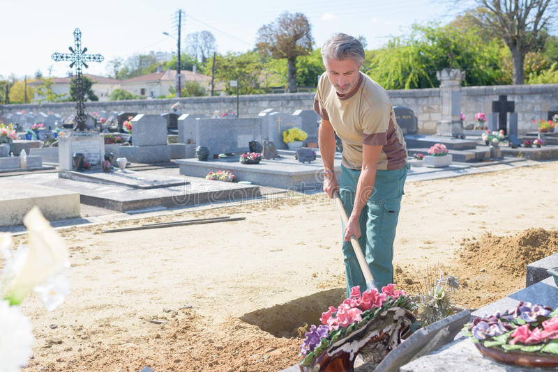 Ciao il cimitero fotografia stock