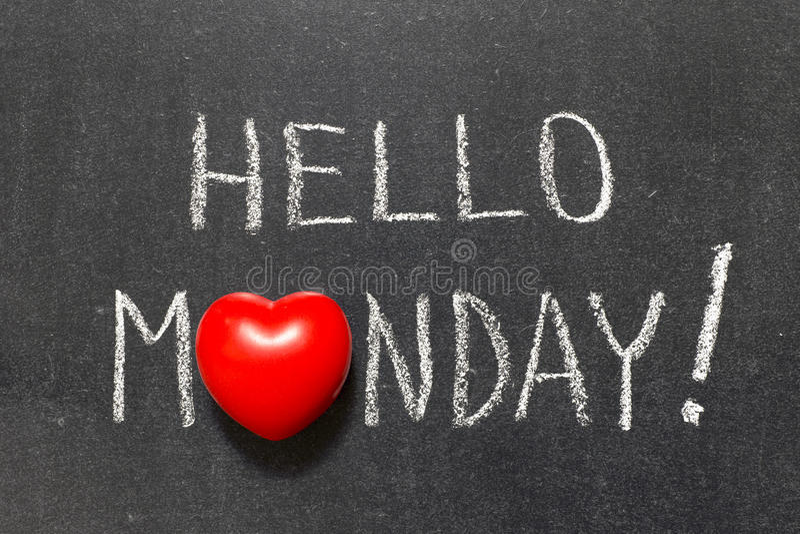 Ciao lunedì fotografia stock