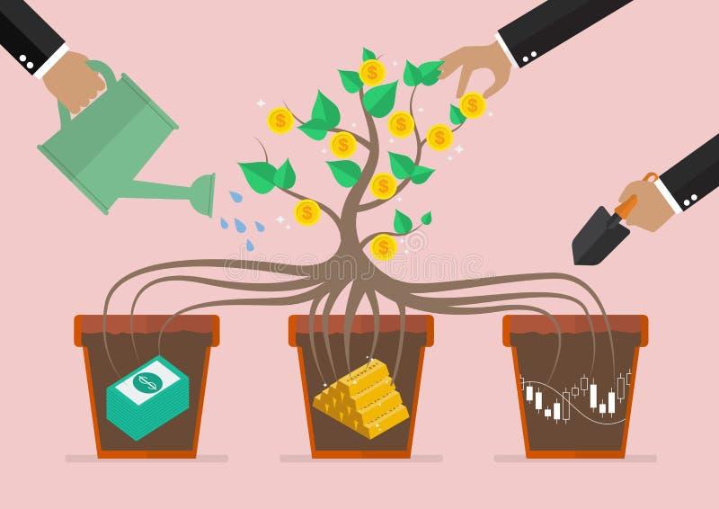 Ciao seu investimento empresarial ilustração royalty free