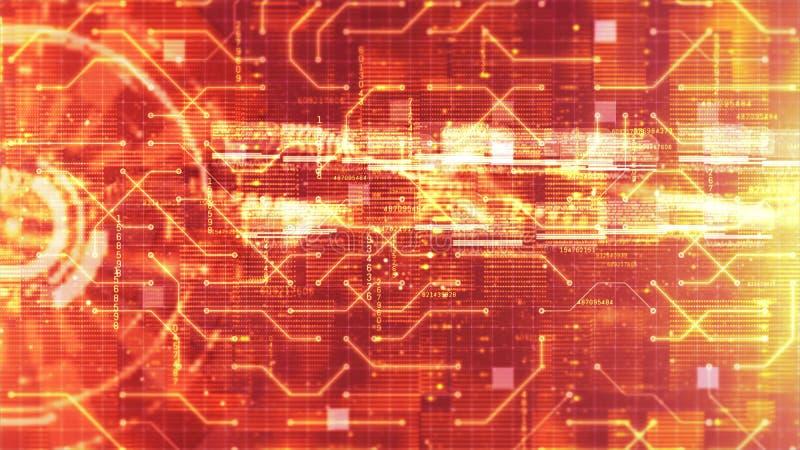Ciao-tecnologia HUD digitale e fondo olografico dell'esposizione del circuito Concetto di tecnologia fotografia stock