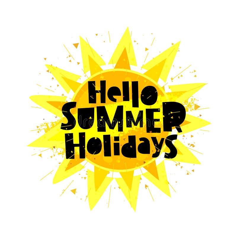Ciao vacanze estive Sun royalty illustrazione gratis