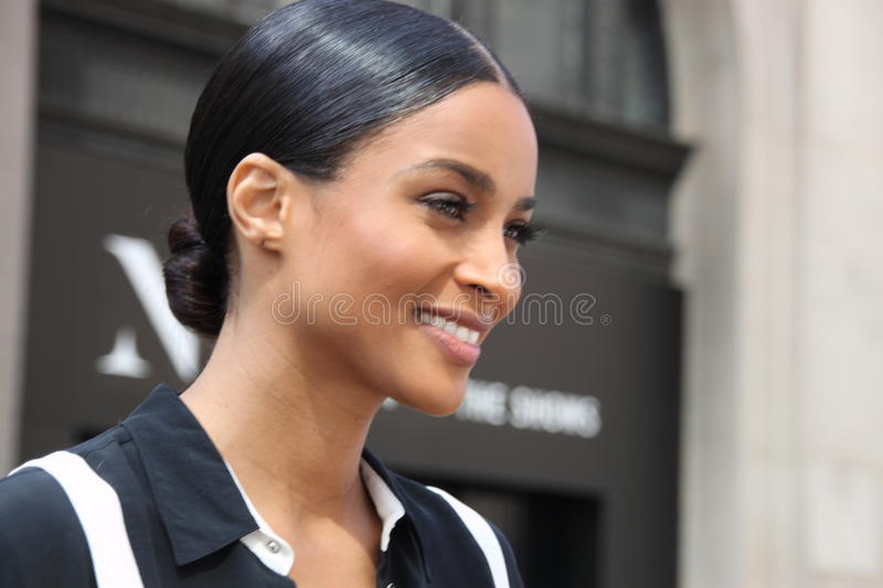 Ciara, new york fashionweek,spring 2016. NEW YORK CITY,NEW YORK, SEPTEMBER 13,2015: ciara was at the showing of public school,showing of their spring 2016 stock photos