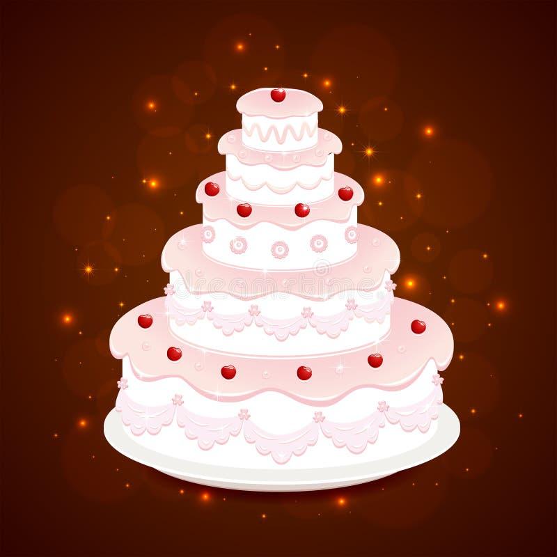 8 ciast ślub royalty ilustracja