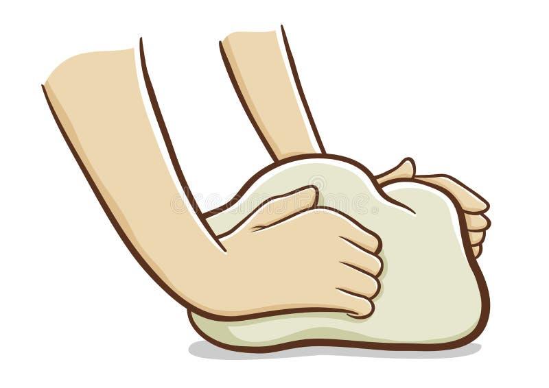 ciasta ręk target1109_0_ ilustracja wektor