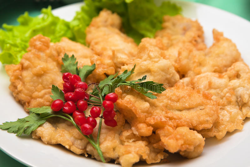 ciasta rybia sałaty pieczeń zdjęcie stock