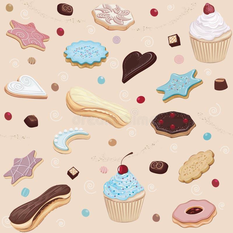 Ciasta tło ilustracji