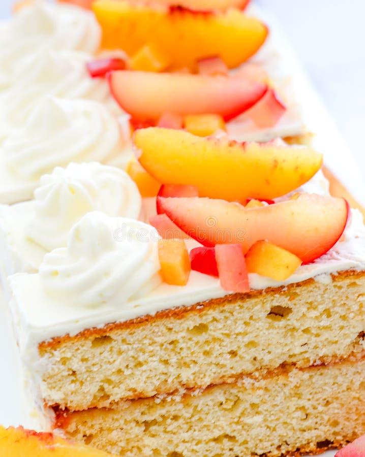 Ciasta w tacy fotografia stock