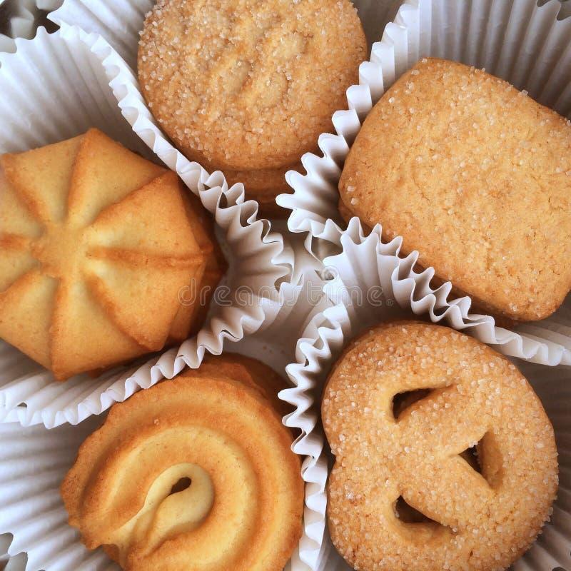 ciasteczka duńskie masła kakaowego obrazy stock