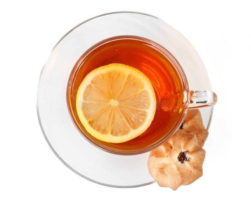 ciastek filiżanki cukierki herbata obrazy stock