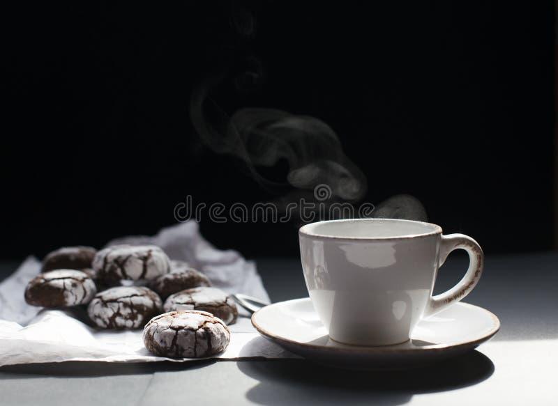 ciastek filiżanki herbaty wektor fotografia royalty free