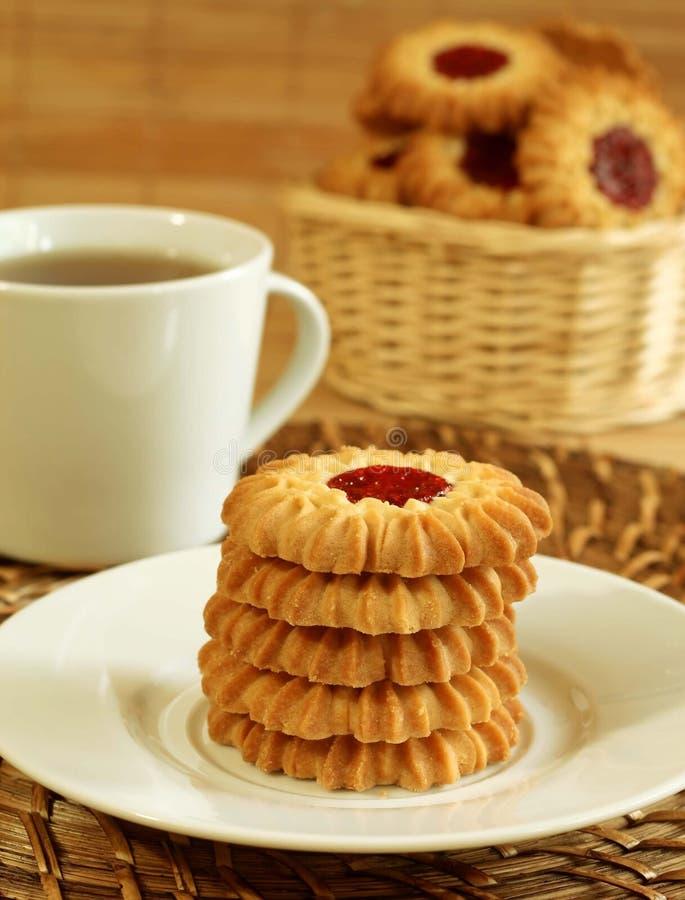 ciastek filiżanki marmalade herbata fotografia stock
