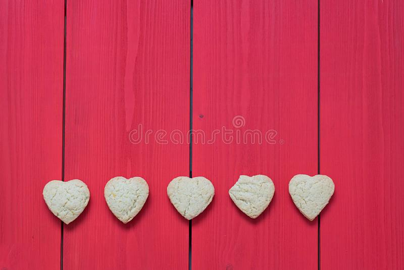 ciastek serce kształtujący cukier zdjęcia stock