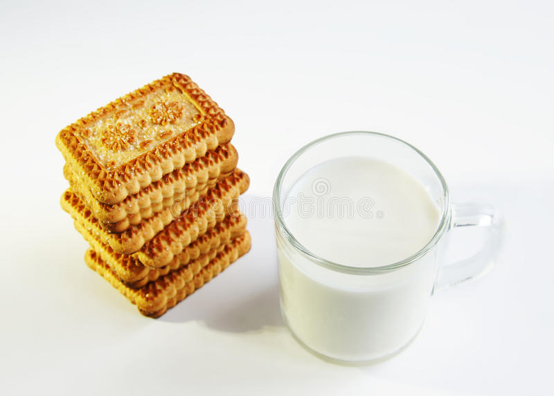 ciastek szkła mleko zdjęcia royalty free