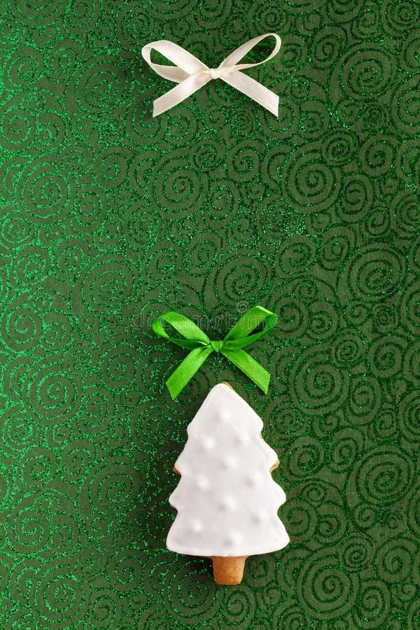 Ciastka bożenarodzeniowy Jedlinowy drzewny tło obraz royalty free