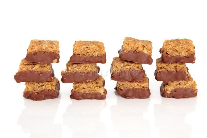 ciastka czekoladowy flapjack obraz royalty free