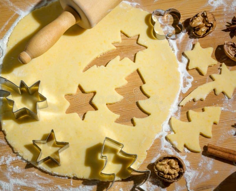 Ciastka dla bożych narodzeń fotografia stock