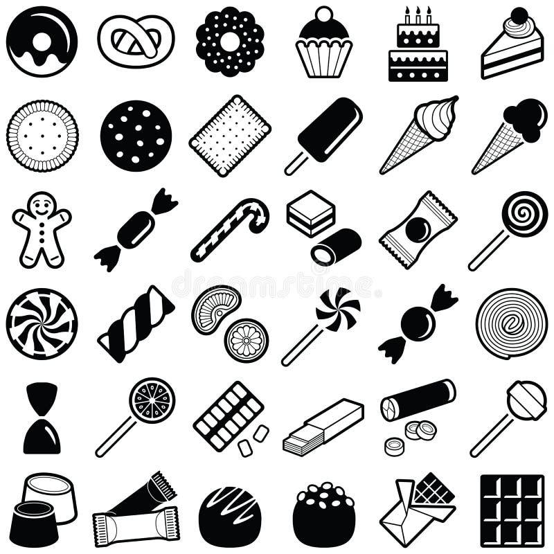 Ciastka i cukierku ikona ilustracji