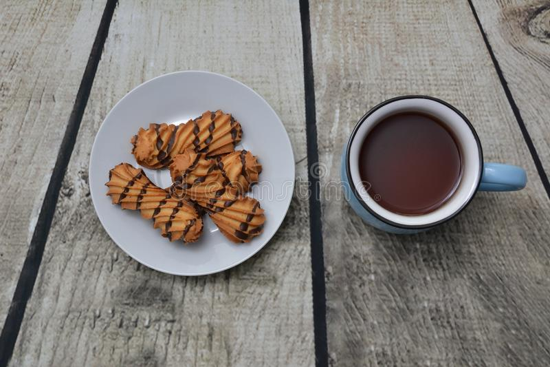 Ciastka i herbata zdjęcia stock