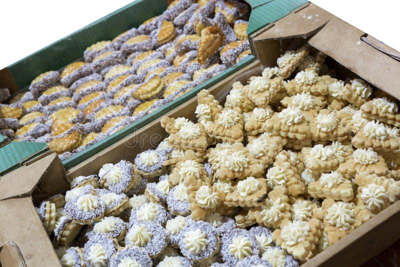 Ciastka na rynku w Maroko fotografia royalty free