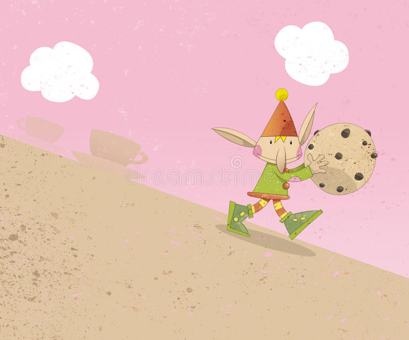ciastka pixie odprowadzenie royalty ilustracja