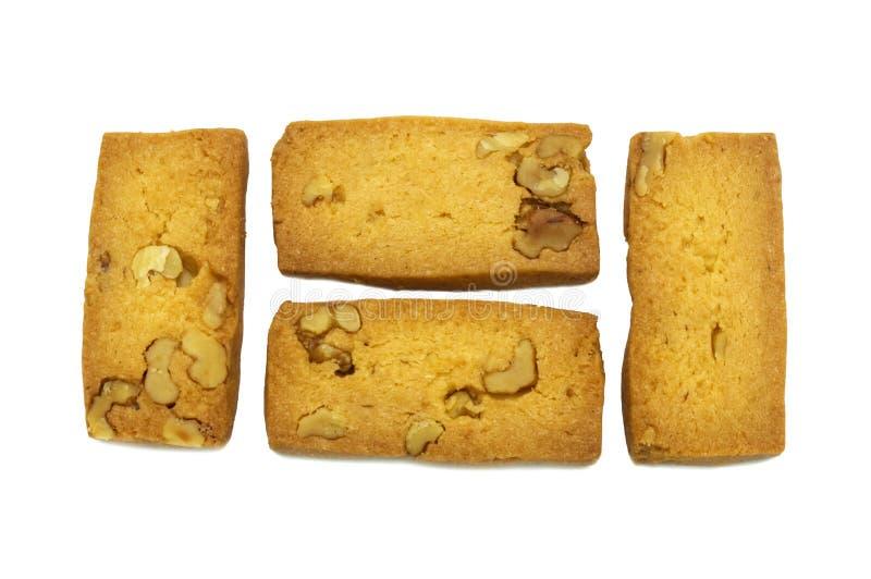 Ciastka przerzedżą krakersu domowej roboty, Kwadratowego i gęstego projekt, fotografia royalty free
