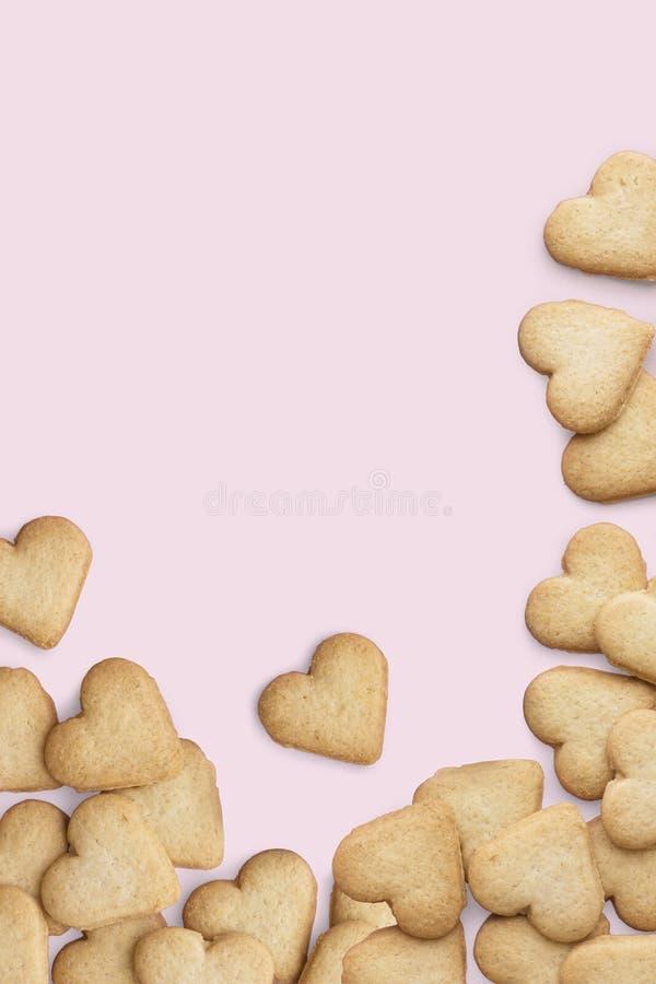 ciastka serce kształtował obrazy stock