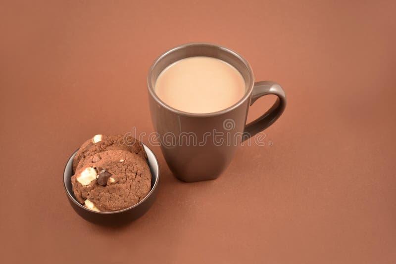 Ciastka z czekoladowego mleka zapasu wizerunkami obraz stock