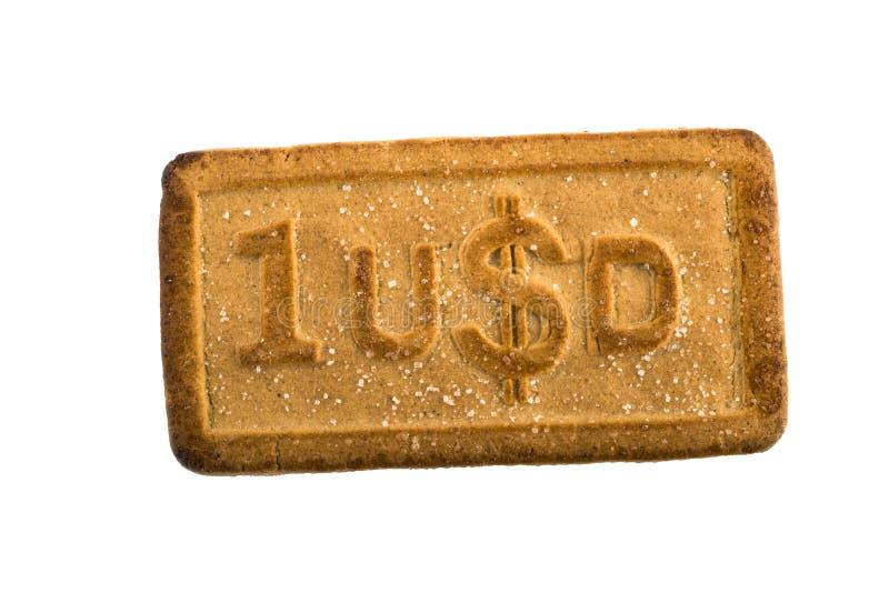 Ciastka z waluta symbolem zdjęcia stock