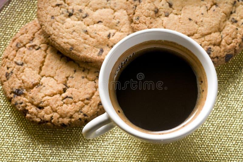 ciastko czekoladowa kawowa filiżanka obraz royalty free