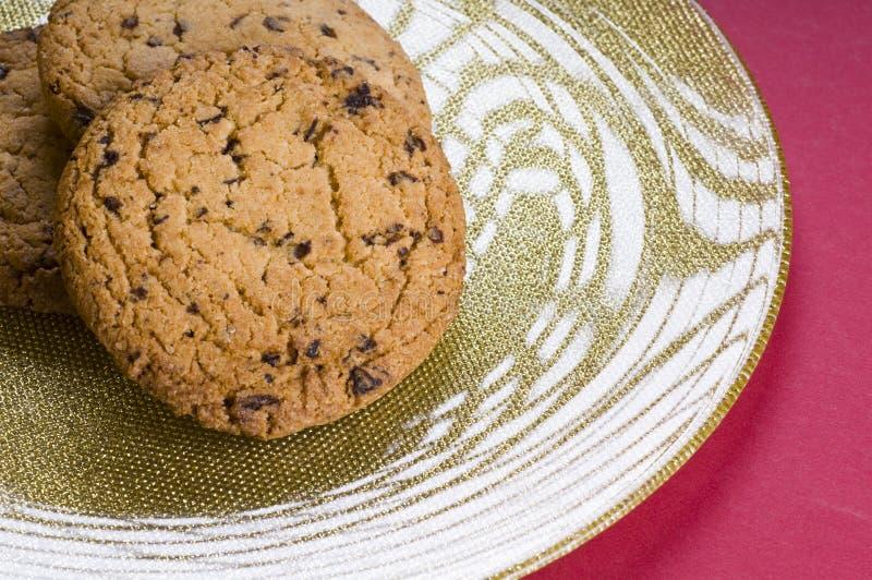 ciastko czekoladowy talerz zdjęcie stock