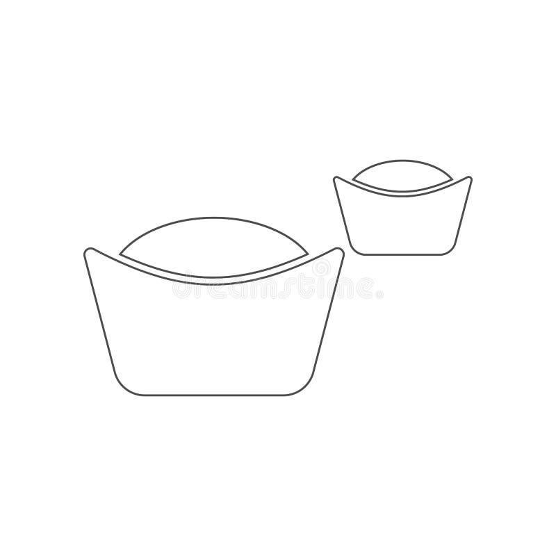 Ciastko ikona Element Chiny dla mobilnego poj?cia i sieci apps ikony Kontur, cienka kreskowa ikona dla strona internetowa projekt ilustracji