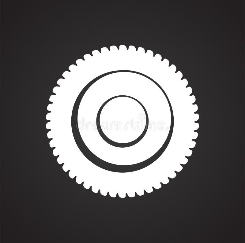 Ciastko ikona na tle dla grafiki i sieci projekta Prosty wektoru znak Internetowy poj?cie symbol dla strona internetowa guzika lu ilustracji