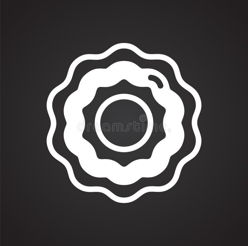 Ciastko ikona na tle dla grafiki i sieci projekta Prosty wektoru znak Internetowy poj?cie symbol dla strona internetowa guzika lu royalty ilustracja