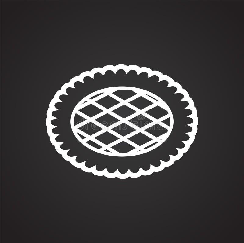 Ciastko ikona na tle dla grafiki i sieci projekta Prosty wektoru znak Internetowy poj?cie symbol dla strona internetowa guzika lu ilustracja wektor