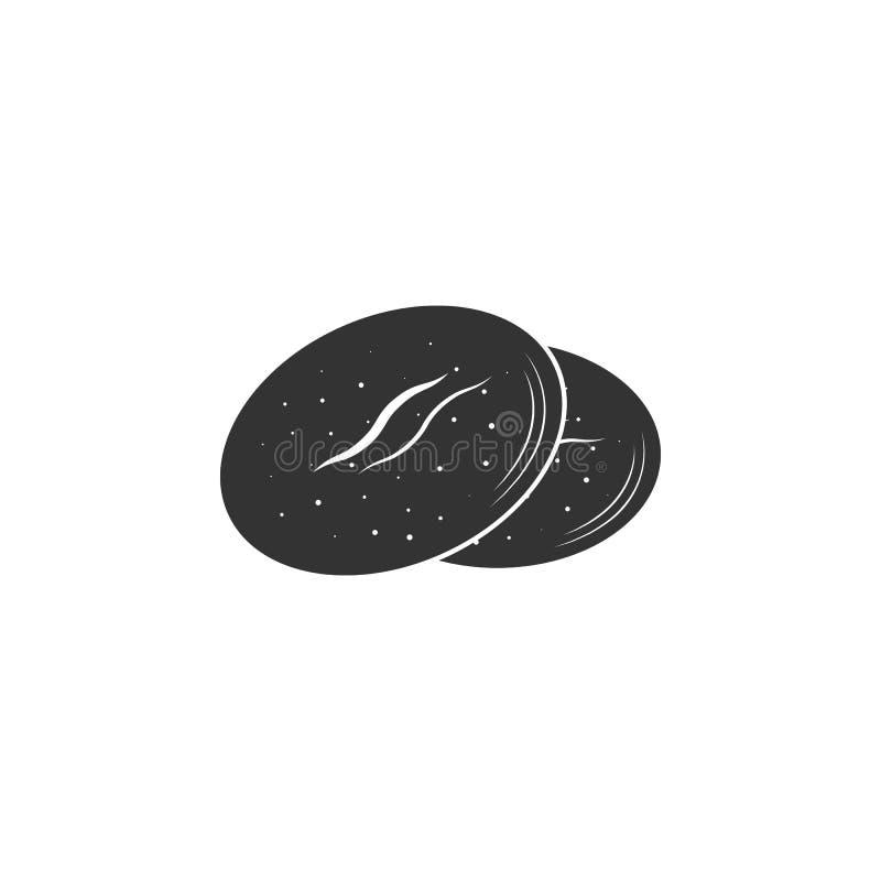 Ciastko ikona Prosta element ilustracja Ciastko symbolu projekta szablon Może używać dla sieci i wiszącej ozdoby royalty ilustracja