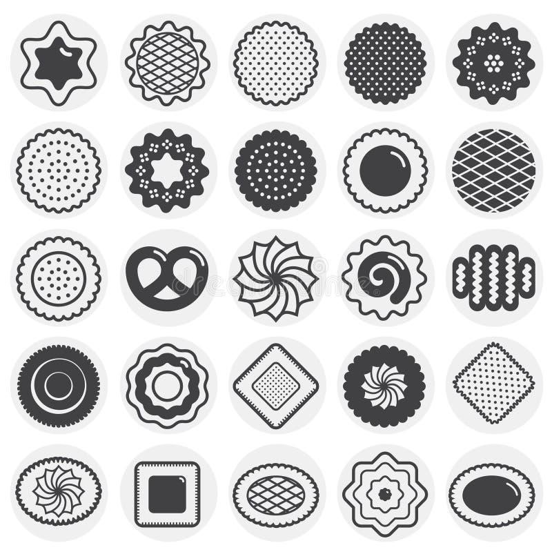 Ciastko ikony ustawiać na okręgu tle dla grafiki i sieci projekta Prosty wektoru znak Internetowy poj?cie symbol dla ilustracja wektor