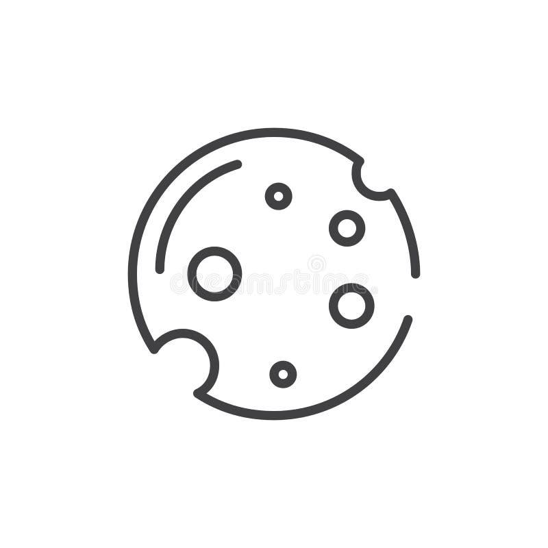 Ciastko kreskowa ikona royalty ilustracja