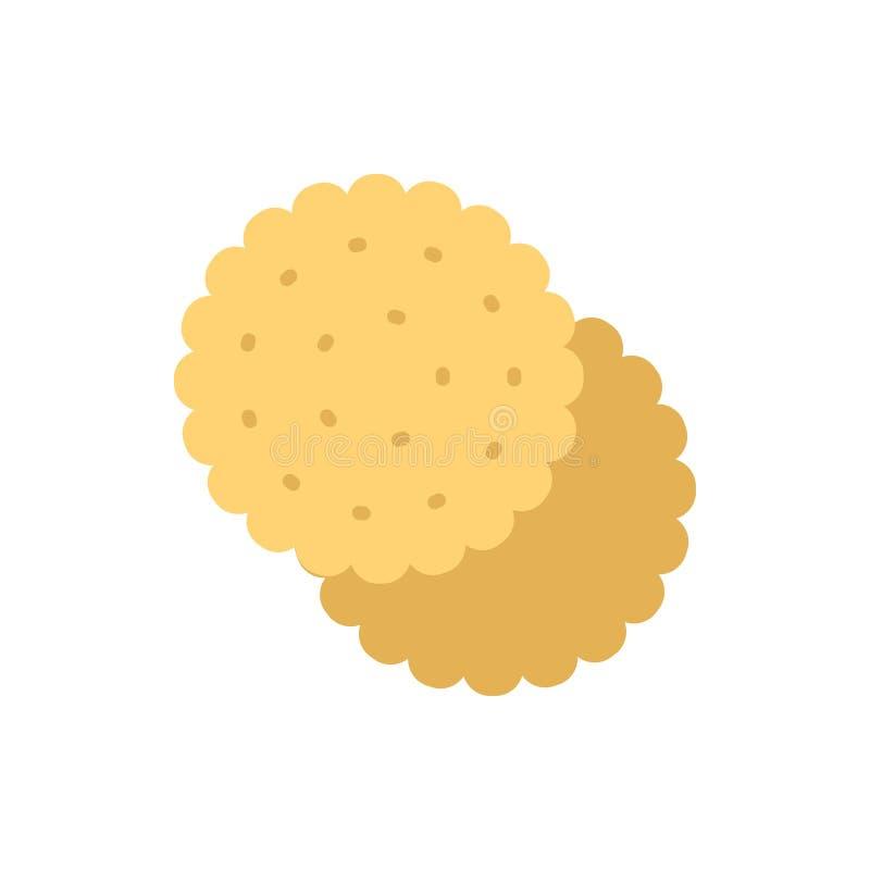 Ciastko płaska wektorowa ikona ilustracji