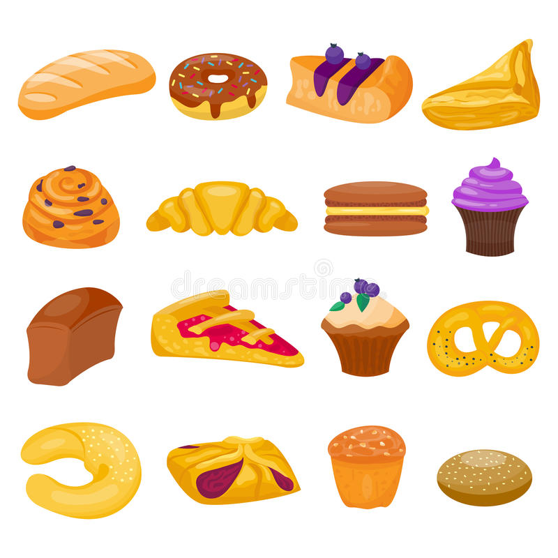 Ciastko tortów wektoru odosobniony set ilustracji