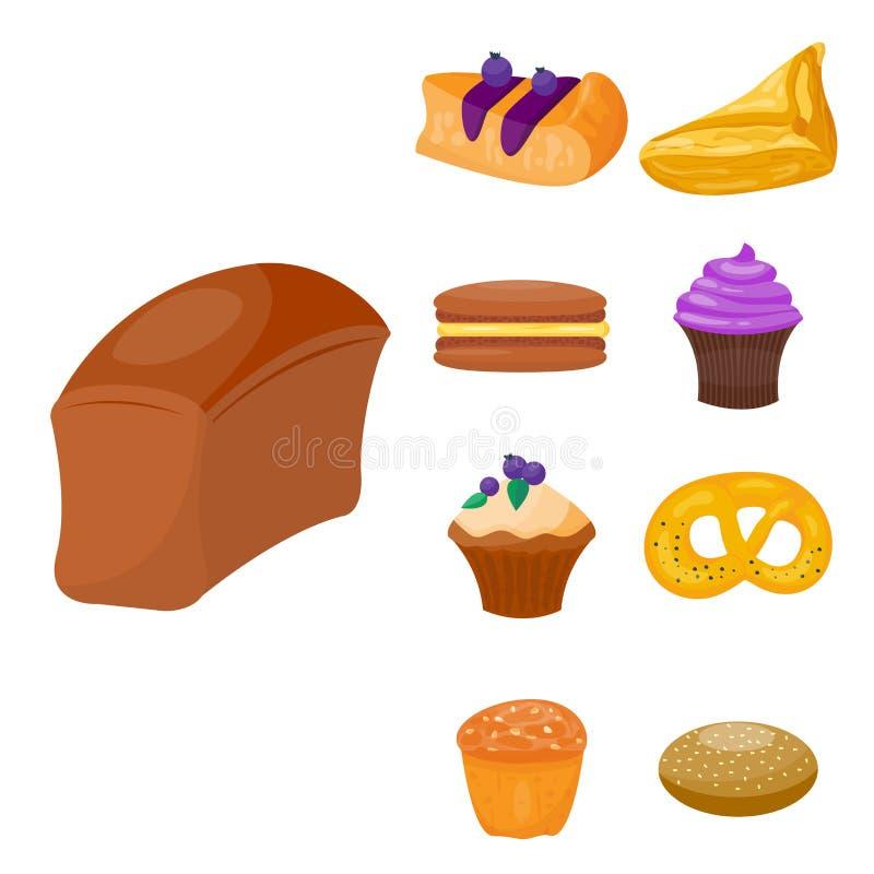 Ciastko zasycha smakowitego przekąski wyśmienicie czekoladowego domowej roboty ciasta biskwitową wektorową ilustrację ilustracja wektor
