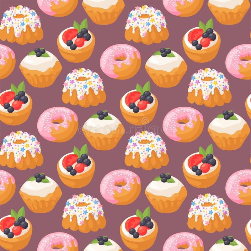 Ciastko zasycha smakowitej przekąski ciasta wyśmienicie czekoladowej domowej roboty biskwitowej słodkiej deserowej piekarni karmo ilustracji