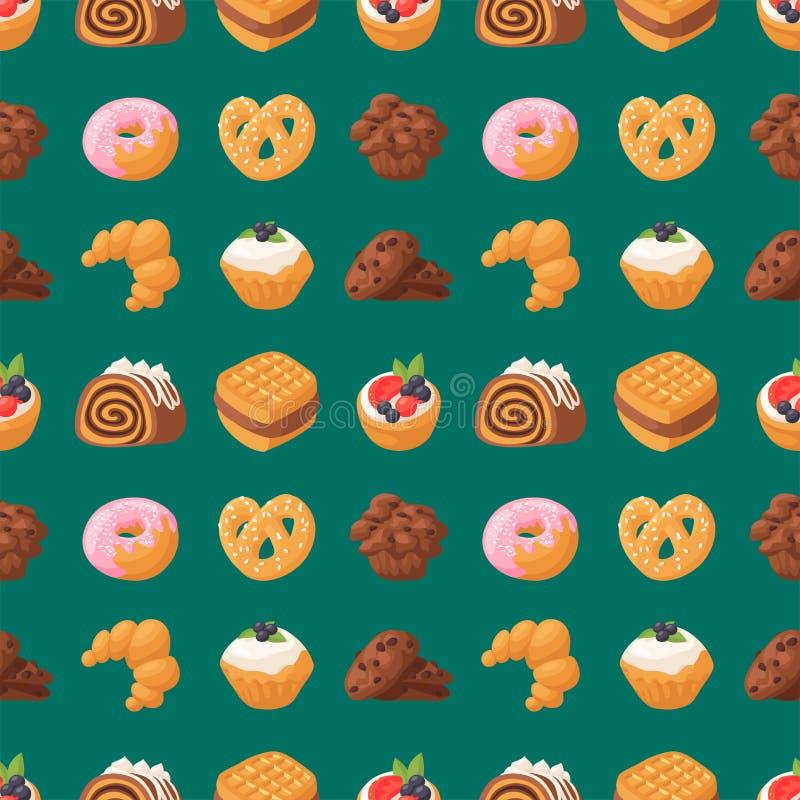 Ciastko zasycha smakowitej przekąski ciasta wyśmienicie czekoladowej domowej roboty biskwitowej słodkiej deserowej piekarni karmo ilustracja wektor