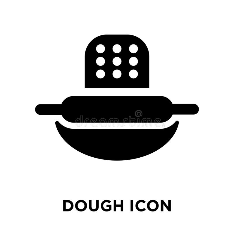 Ciasto ikony wektor odizolowywający na białym tle, loga pojęcie ilustracji