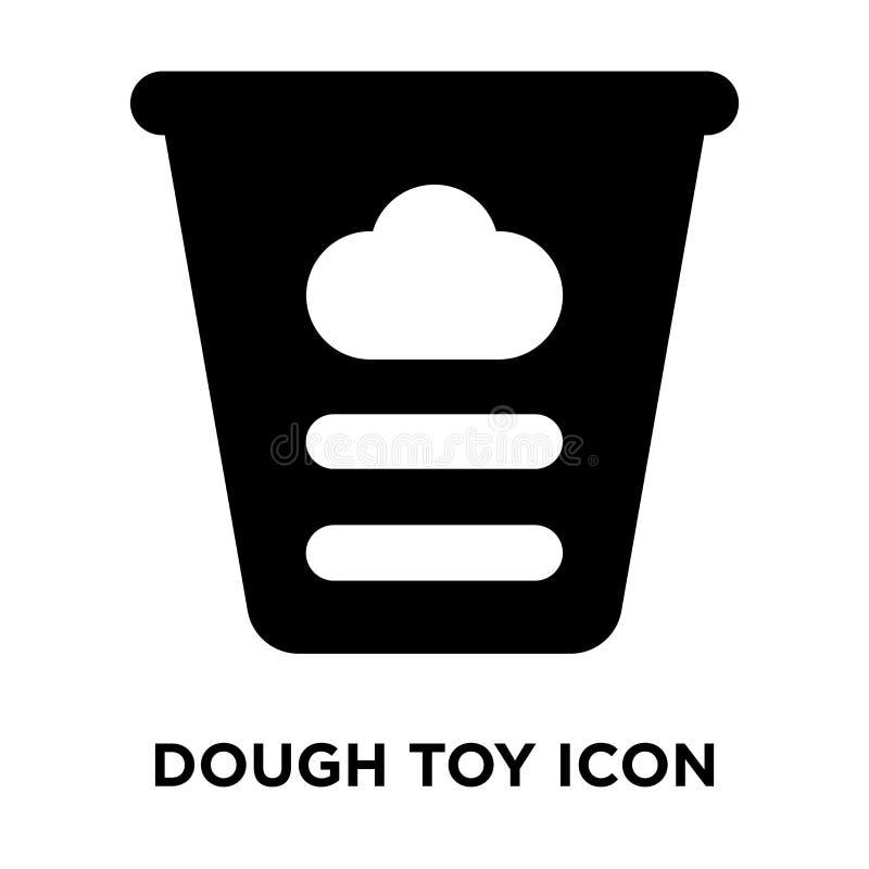 Ciasto ikony zabawkarski wektor odizolowywający na białym tle, loga pojęcie royalty ilustracja