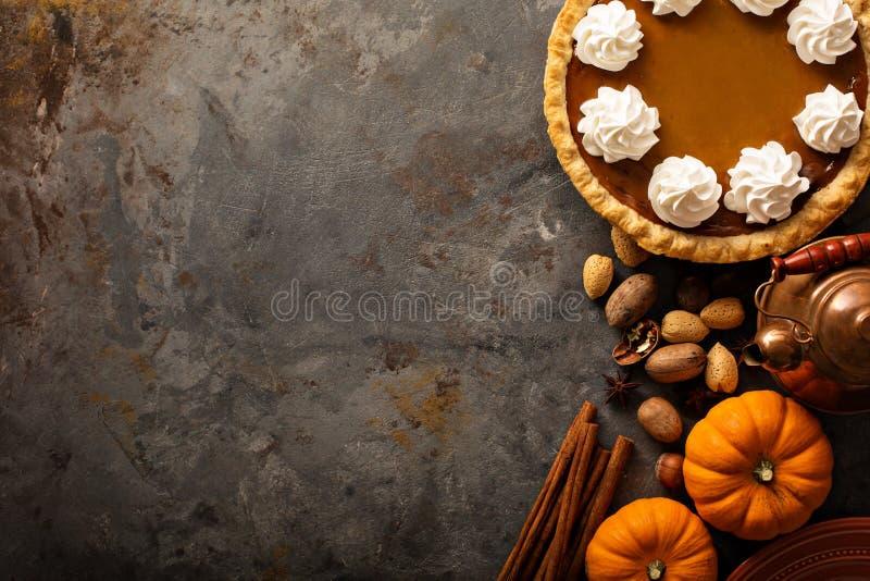 ciasto kremowe pumpkin bita zdjęcie stock